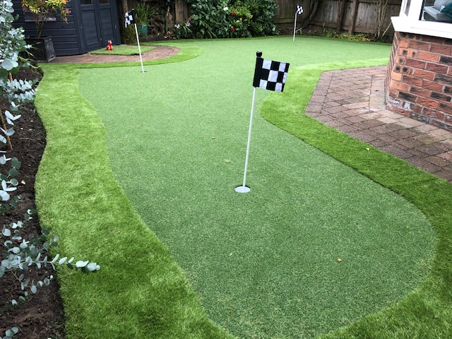 Golf Garden with artificial grass.